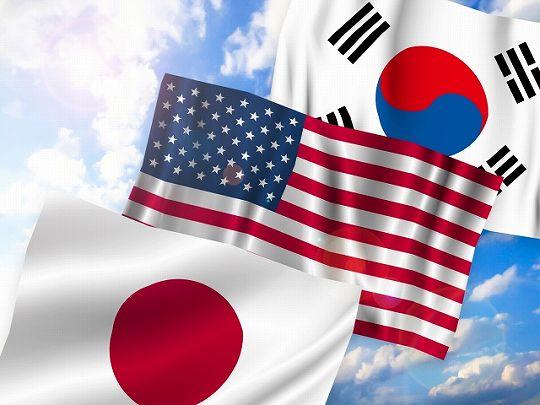 米国、韓国、日本